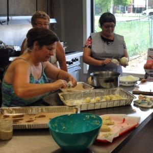 Making Bacalao Cakes